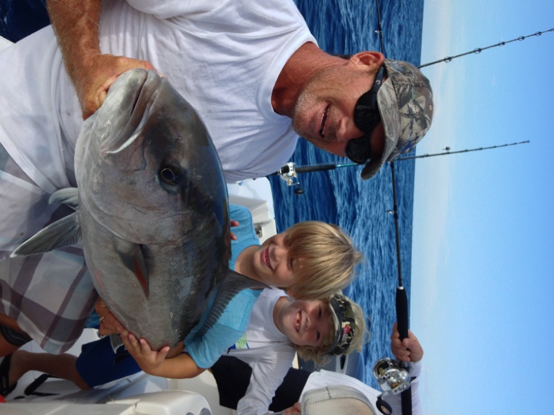 Thatcher with its first place amberjack Stuart sailfish club kids tournament.