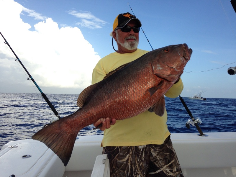 Sam Heaton with a nice Cubera snapper. These things pull like a mofo! Call me to book your Stuart Florida fishing charter aboard Off The Chain