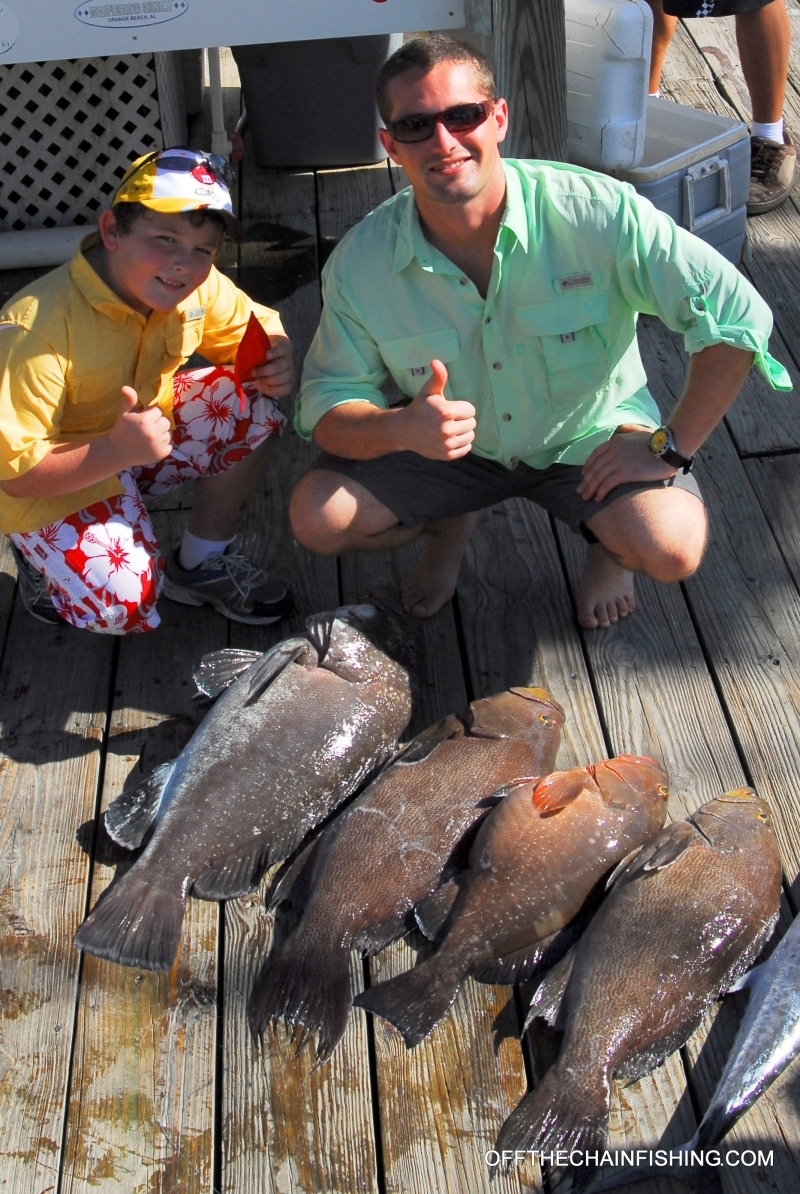 The Boys from Southern Angler after a Stuart Fl. 1/2 day Bottom Fishing Charter