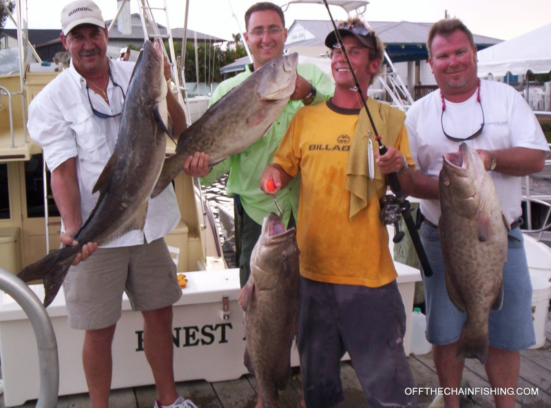 Stuart Florida Bottom fishing Charters, Jig for Cobia, Grouper, Snapper and more. Off the Chain saltwater fishing charters