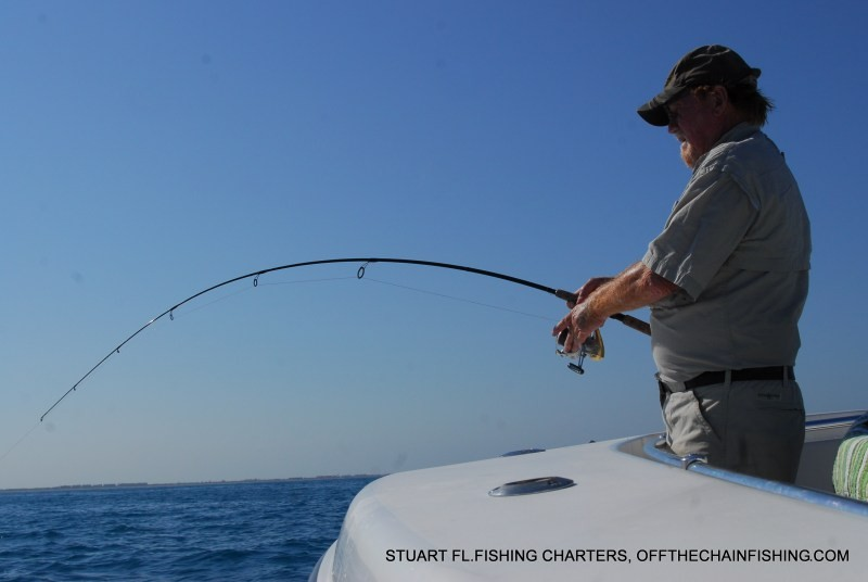 My dad hooked up to a 40lb. permit. Contact me to book a sight fishing charter off Stuart Fl.